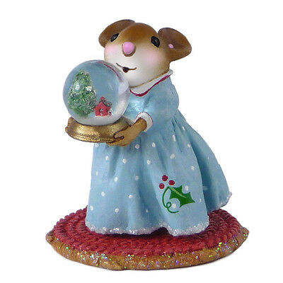 MY LITTLE SNOW GLOBE by Wee Forest Folk, WFF# M-515 Christmas Mouse