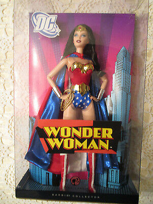 Wonder Woman Barbie Doll 2008 Pink Label Mattel Super Hero NRFB Excellent