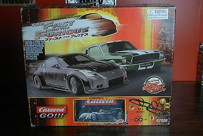 Very Rare! THE FAST AND THE FURIOUS RARE! Carrera Go!!! 62006 Slot Car Set 1:43