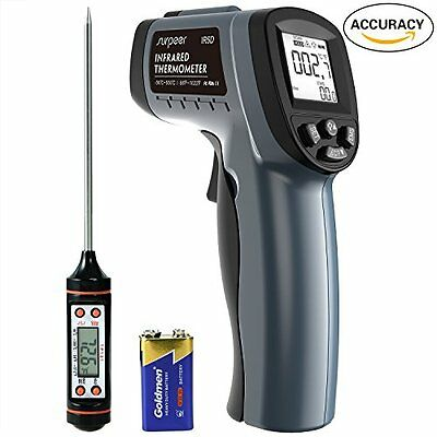 Infrared Thermometer SURPEER IR5D Digital Temperature Gun -58℉~1022℉ -50℃~550...