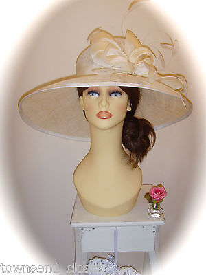 SALE Mother of Bride Ascot Occasion Wedding Gwyther Snoxell Hat, Cream