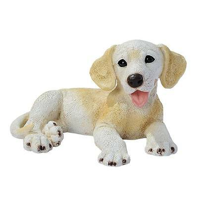 "Design Toscano Exclusive 5½"" Hand Painted Yellow Labrador Puppy Dog Statue"