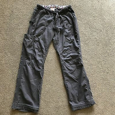 Womens Koi Size S petite Gray Cargo Scrub Pants Bottoms