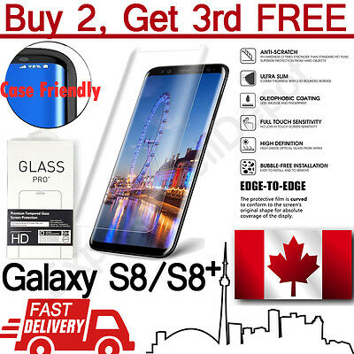 Clear Curved Case Friendly Tempered Glass Screen Protector Samsung Galaxy S8/S8+