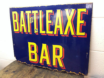 Excellent Vintage Enamel Sign