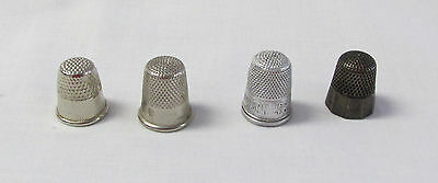 Lot of Four VIntage Thimbles, (One Sterling Silver)