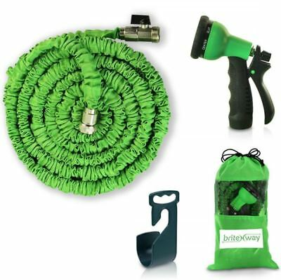 Expendable Garden Hose 50 Ft Retractable Lightweight  Flexible - 8 Pattern