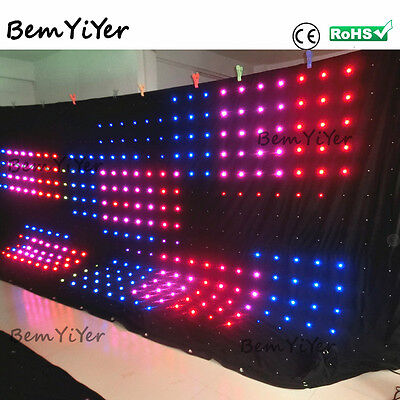 P18cm 3*6m led video screen/curtain/motion drape/DMX/Remote/SD/DJ Backdrop/shows