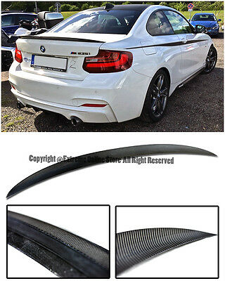 For 14-Up BMW F22 2-Series Performance Style Carbon Fiber Rear Trunk Lip Spoiler