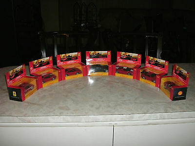 Ferrari Collection Cars Scale 1:38 By Shell V-Power (7 Car set)