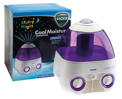 Vicks Starry Night Cool Moisture Humidifier - White/Purple