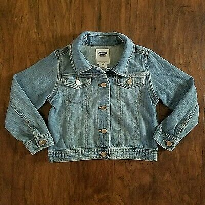 Old Navy girls kids button down jean jacket size 3T