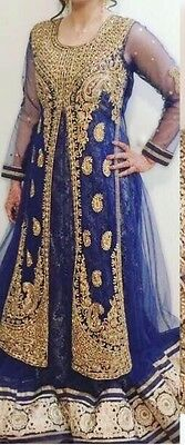 women's royal blue beautiful partywear or wedding dress in 36 size