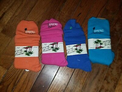 4 Pair New in Package Beverly Hills Blues K-Mart Slouch Socks 90's Bright -