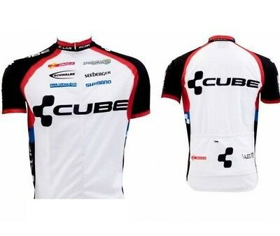 CUBE Teamline Mens Basic Cycling Jersey - White Short Sleeve Jersey - XSmall