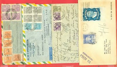 Brazil 8 diff Registered cover to USA Lot#1549