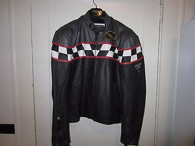 Official Triumph leather motorcycle jacket mens 42