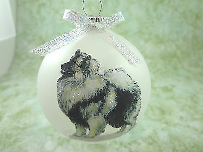 D034 Hand-made Christmas Ornament dog - Keeshond - standing pretty