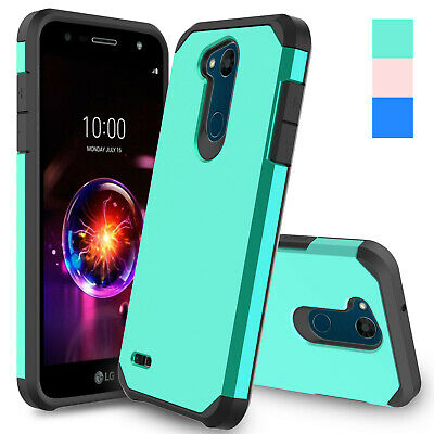 Hybrid Hard Armor Case Shockproof Rubber Cover For LG X Power 2 / Fiesta LTE