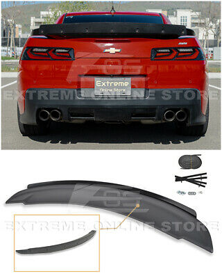 ZL1 Style Rear Trunk Wing Spoiler W/ Wicker Bill For 14-15 Chevrolet Camaro