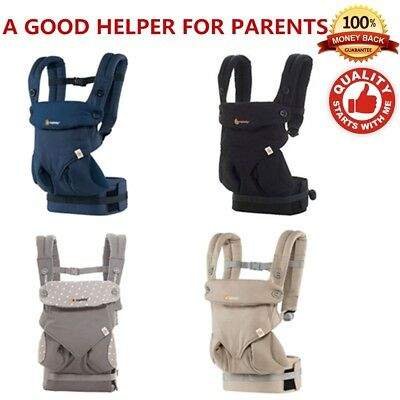 Ergo 360 Four Position breathable carrier Dusty gray New w box-US