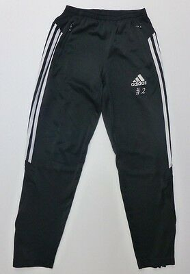 Adidas Youth Boys Size L 14-16 Black & White Athletic Pants Good Condition