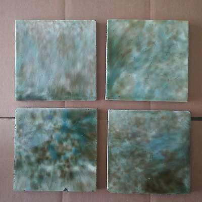 1 lot of 4 Victorian Fireplace Tile Mottled Architectural Salvage Trent England