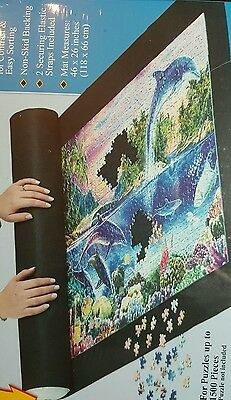 Ravensburger Puzzle Stow & Go Puzzle Storage Roll Up Black Felt Mat Transport