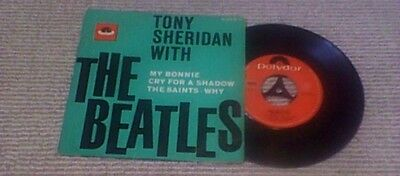 "TONY SHERIDAN with THE BEATLES Mono 3rd POLYDOR GER PS 7"" 45 EP 1964"
