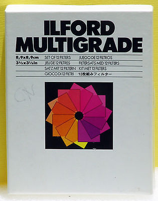 Set Filtri Multigrade Ilford  Filtri Multigrade Ilford Scatola Completa Di 12