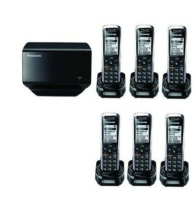 New Panasonic KX-TGP500 SIP DECT VoIP Cordless Phone System With 6 Handsets
