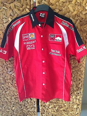 Ducati Corse Moto Gp Racing Collar Shirt Mens L Large