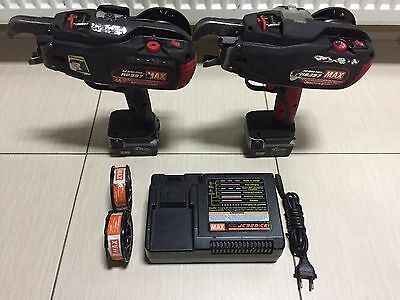 2x Rebar Tier RB397 MAX Cordless Battery Operated Tying Machine