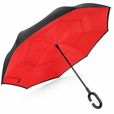 Rainlax Inverted Umbrella Double Layer Windproof Anti UV Protection for Car #5BO