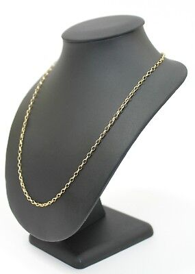 Ladies 9K Solid Yellow Gold Belcher Link Chain Necklace 8.5 Grams
