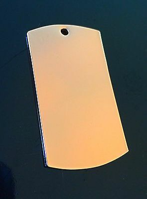 5 X Solid Pure Copper Pendant Dog Tag Style Healing Arthritis Therapy Engraving