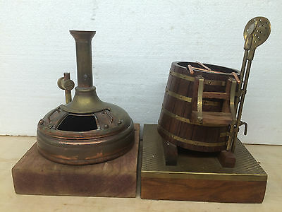 2 Steam Engine Driven Models Brewery Boiler and Bucket
