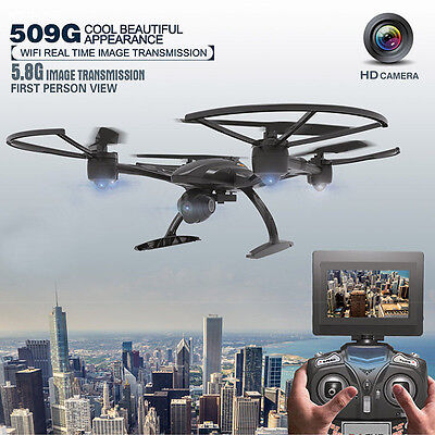 JXD 509G RC Drone FPV Quadcopter with HD Monitor Camera 5.8G Set Altitude High
