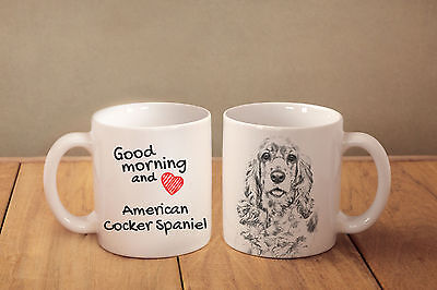 "American Cocker Spaniel - ein Becher ""Good Morning and love"" Subli Dog, CH"