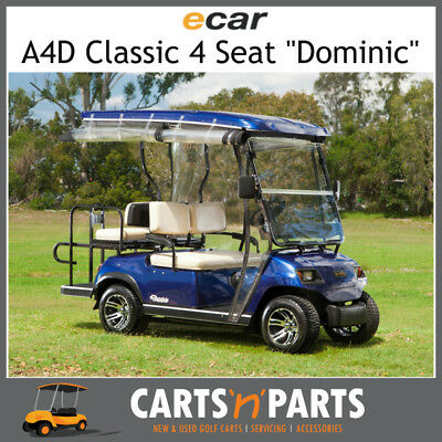 Ecar A4D DOMINIC Classic 4 Seat NEW GOLF CART Buggy Black