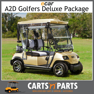 Ecar A2D Golfers Deluxe Full Package NEW GOLF CART Buggy 2 Seat Champagne Gold