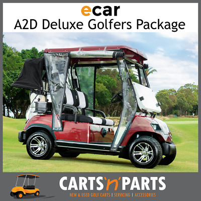 Ecar A2D Golfers Deluxe Full Package NEW GOLF CART Buggy 2 Seat Burgundy