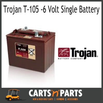 SINGLE Trojan BATTERY 6 Volt Deep Cycle T105 225Ah/20Hr