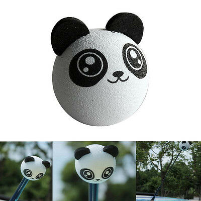 1pc Lovely Panda Car Antenna Pen Topper Aerial Ball Decoration Gift Toy