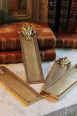 Two Pairs of Vintage French Bronze Style Door Finger Push Plates