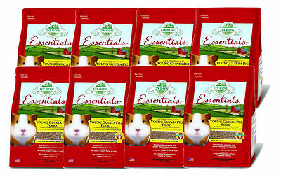 Oxbow Cavy Cuisine YOUNG Guinea Pig (ALFALFA Based) 5 lb Bag 8 PACK
