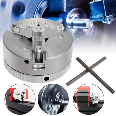 Metal 3 Jaw Self-Centering Lathe Chuck M12x1 45mm For Mini 6 in 1 Lathe+Two Lock
