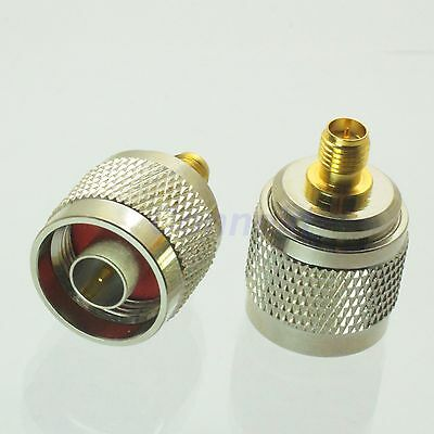 1pce N male plug to RP-SMA female plug center RF coaxial adapter connector