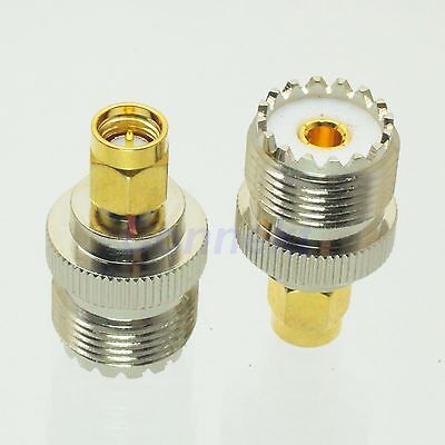 1pce UHF female SO-239 SO239 jack to SMA male plug RF adapter connector