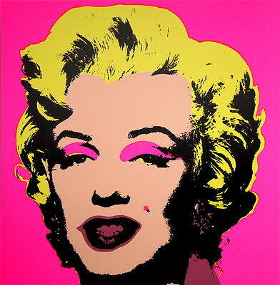 ANDY WARHOL Pop Art - Sunday B Morning - Marilyn Monroe 11.31 Screen print + COA